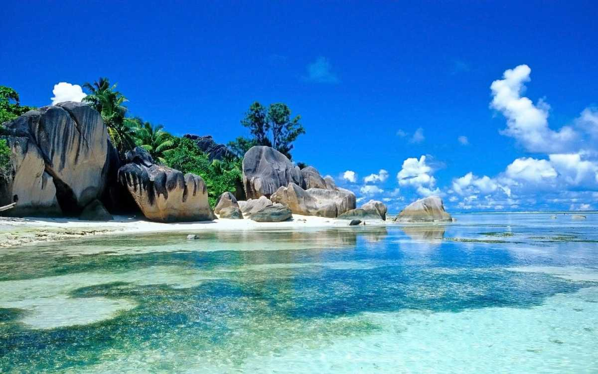 Cote d'Or, Beaches in Praslin Island