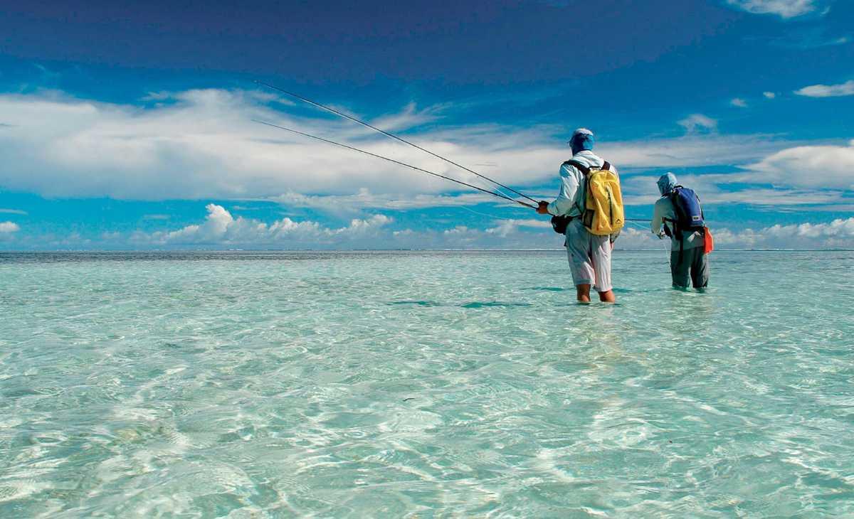 Fishing at Alphonse Island