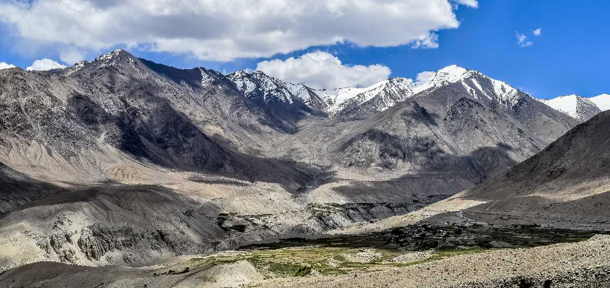 Snow in Nubra Valley