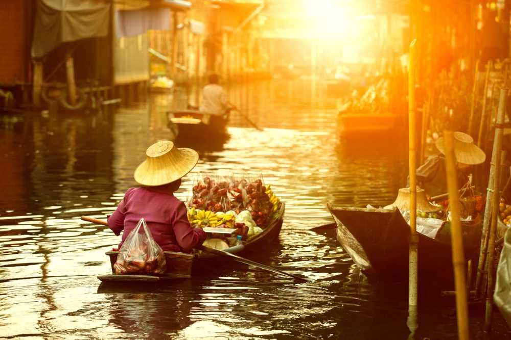 Floating Market Bangkok, Sunrise in Bangkok