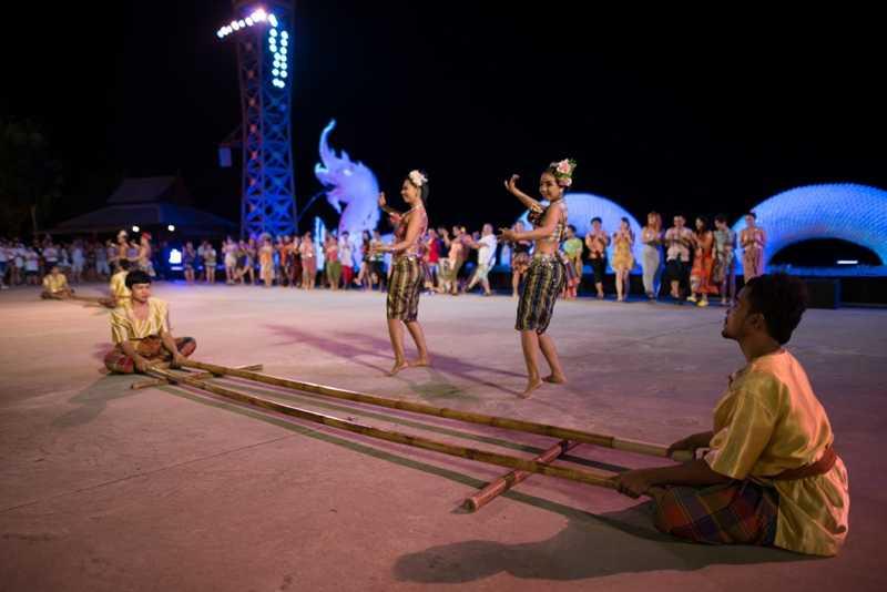 Naga Light and Fountain Show at Siam Niramit, Phuket