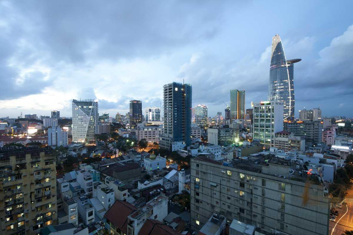 Sklyine of Ho Chi Minh City Vietnam