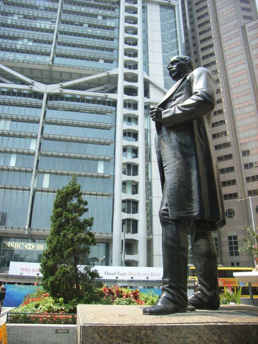 The HSBC headquarters at Statue Square Hong Kong