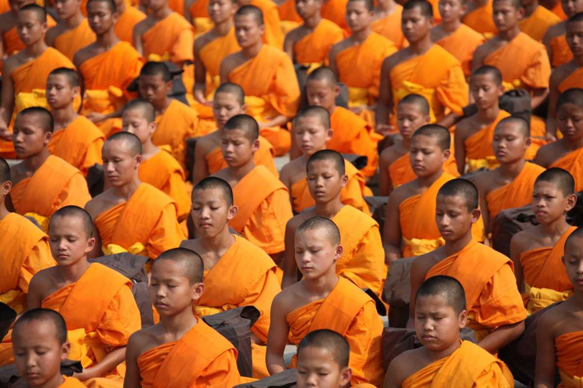 Young Buddhist Monks, Thailand