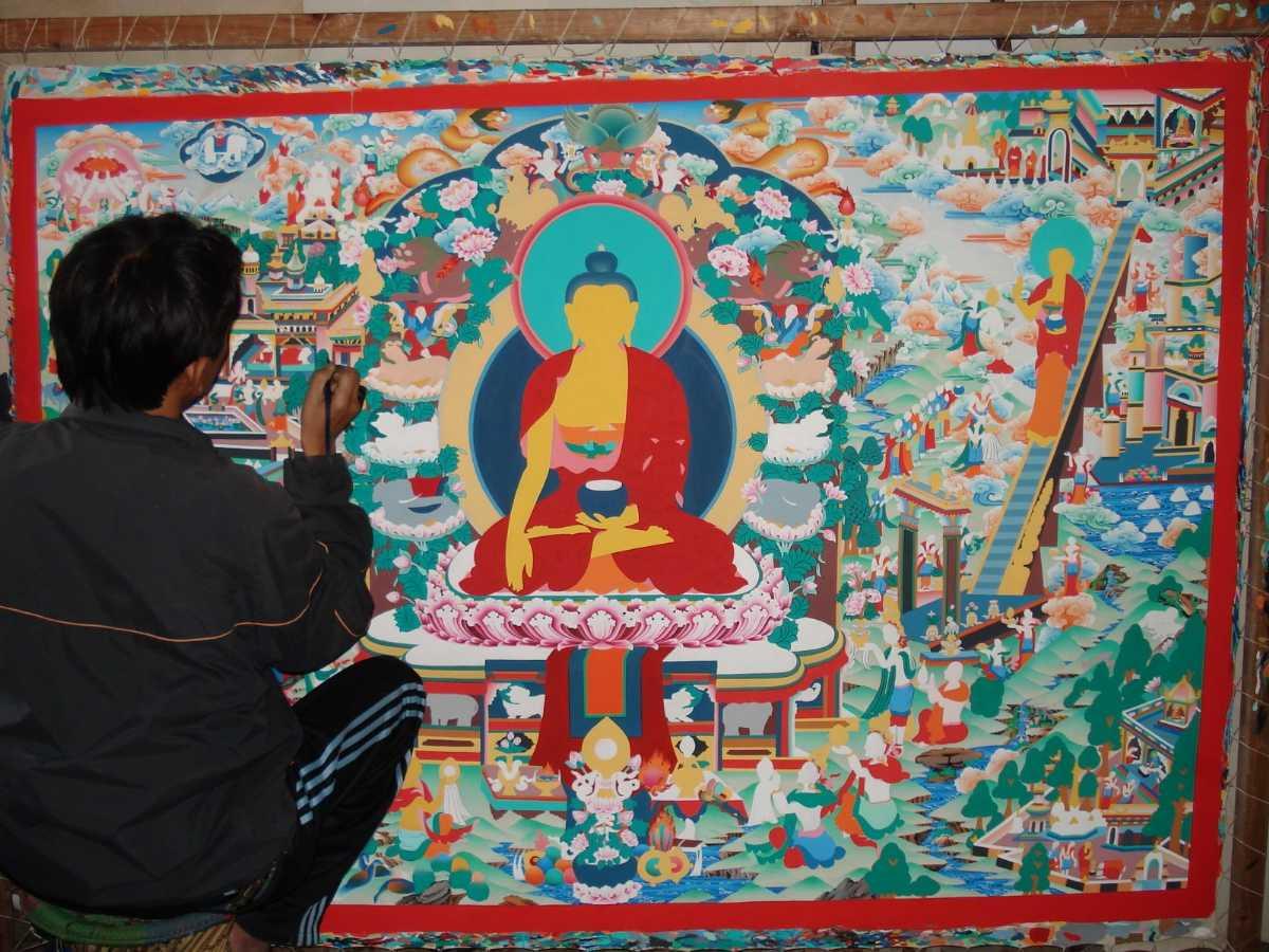 Thangka paintings, Shopping in Kathmandu