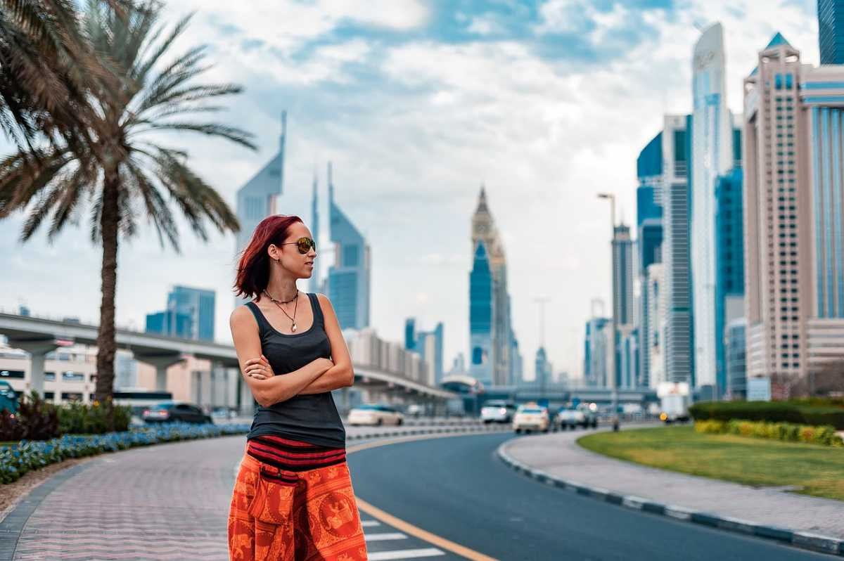 Tourist in Dubai