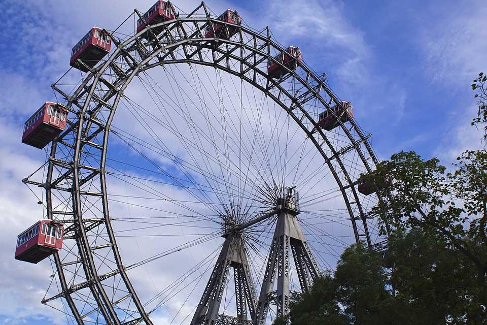 giant ferris wheel, vienna, prater