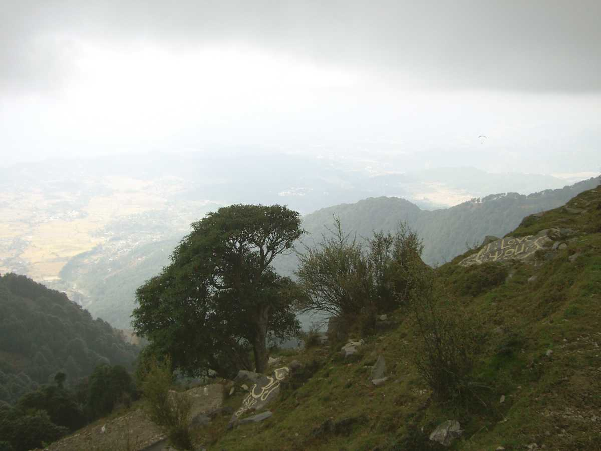 View of Mountains and Valley from Bir