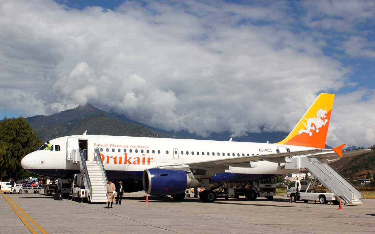 DrukAir Flight, Bhutan Visa