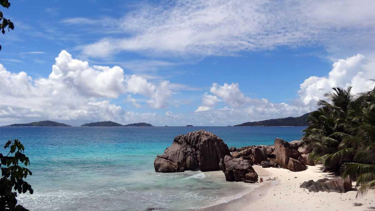 Beach, Seychelles in January