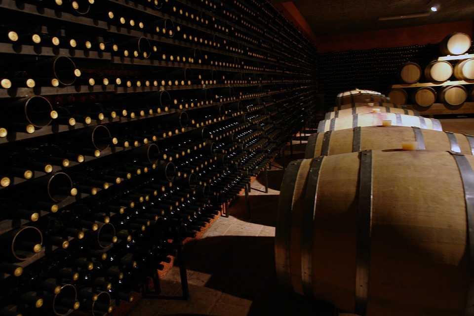 Cosy wine cellar