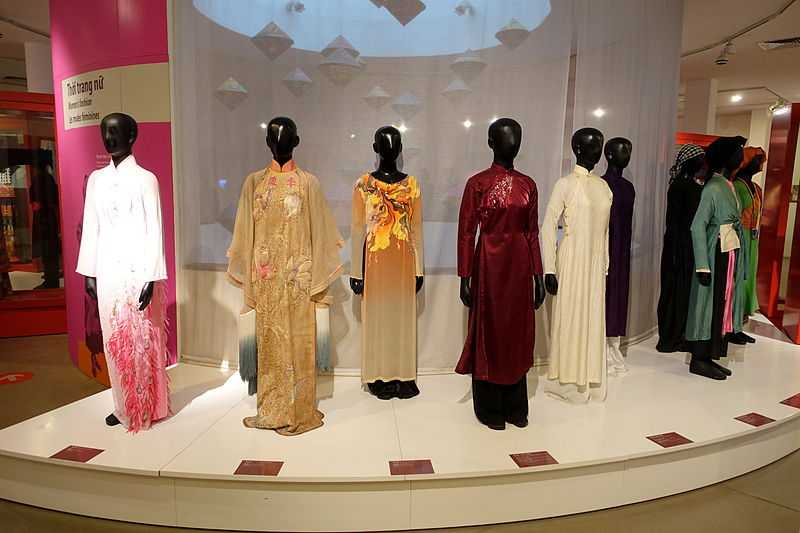 Ao Dai Collection in Vietnamese Women's Museum