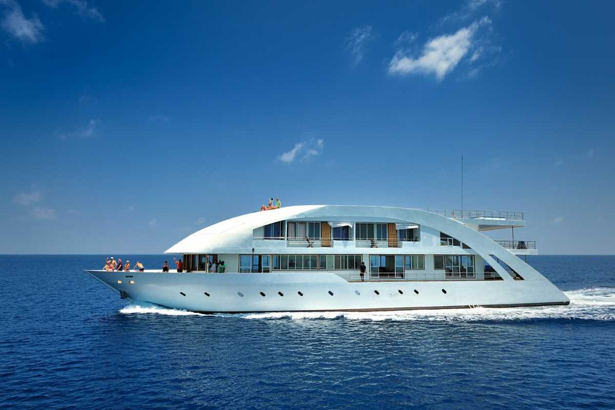 Yacht can be used for getting around in Maldives