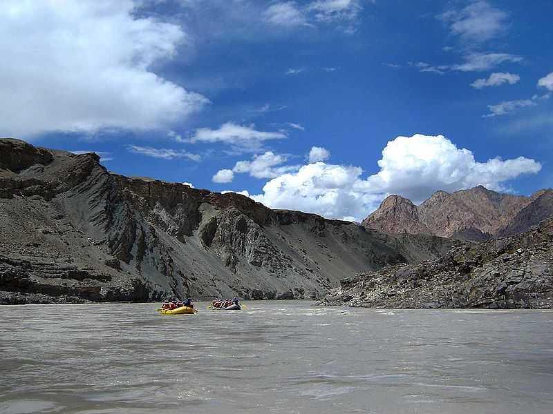 zanskar river, River Rafting Spots in India