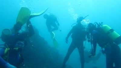 Diving in Jemeluk Beach