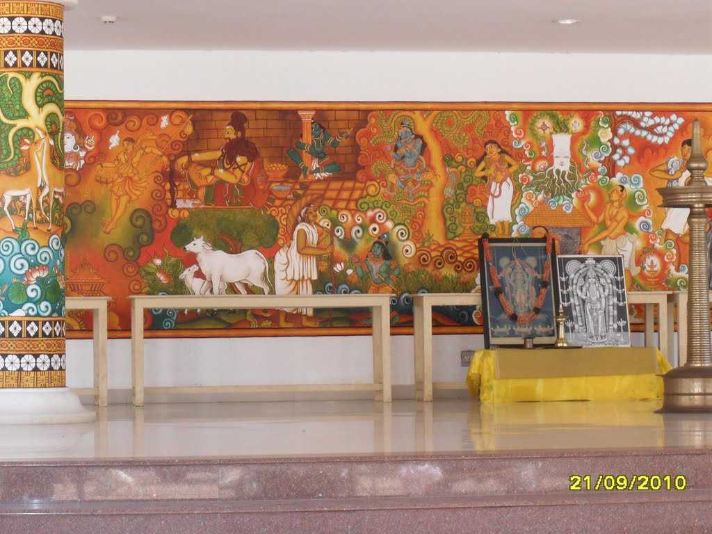 Institute of mural painting guruvayur institute of mural for Asha mural painting guruvayur