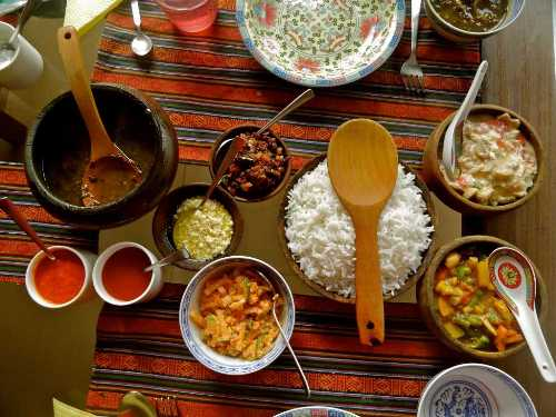 Local dishes of Gangtok